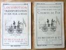 """Catalogue Historique de Livres rares sur les Chemins de fer; cat. N°9 de 1927. Catalogue N°22 de May 1937 """"Locomotion Transportation By Air, Rail & ..."""