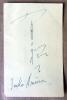 Un carton d'entrée aux Conférences d'Enseignement Supérieur de Cannes de 1960 au nom de Mme. Baudier et signée au dos par Imko Arima en Japonais puis ...
