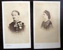 Deux portraits en photographie originale du Roi et de la Reine du Royaume des Deux Siciles.. Franck photographe; 18 rue Vivienne à Paris.
