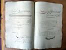Exercice de Calligraphie du XVIIIème siècle ayant pour thème la comptabilité d'une association en société commerciale. Les exemples sont une ...