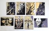 """Lot de 8 cartes postales, tirées, en sérigraphie à 350 exemplaires de la série """" Retours """" n° 5,7,8,9,10,25,26,29.. ( Bandes Dessinées ) - Philippe ..."""