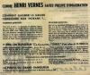 Encart publicitaire annonçant un grand concours Bob Morane patronné par Télecom :  Qui est Mi Sing Ling.... Henri Vernes - Bob Morane.