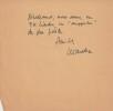 Les Nouveaux Mystères de Paris, Nestor Burma à Saint-Germain-des-Prés. Le Sapin pousse dans les Caves. ( Exemplaire avec cordiale lettre autographe, ...