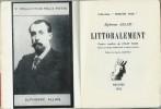 Littoralement. ( Avec coupure de presse, contenant un conte inédit et des critiques ).. Alphonse Allais - Anatole Jakovski - Romi - Raymond Queneau - ...
