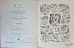 Menu du Déjeuner du Prix du Roman d'Aventures, donné à Paris le 30 mai 1938. ( Tirage nominatif à 50 exemplaires avec 8 dédicaces ou signatures ).. ...