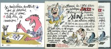 Siné: Vive le Jazz ! + Lithographie originale signée.. ( Dessin d' humour - Jazz ) - Maurice Sinet dit Siné.