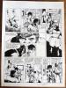 Bob Morane, Les Guerriers de l'Ombre Jaune. Planche originale ( page 5 ), signée, à l'encre de chine.. ( Bob Morane - Bande dessinée ) - Henri Vernes ...