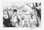 Bob Morane. Dessin original, signé, à l'encre de chine, par Coria.. ( Bob Morane - Bandes dessinées ) - Henri Vernes - Félicisimo Coria.