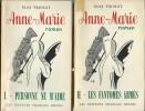 """Anne-Marie, tome 1 et 2. Personne ne m'Aime - Les Fantômes Armés. ( Signés par Elsa Triolet, Milton """" Mezz """" Mezzrow et l'athlète Jules Ladoumègue ). ..."""