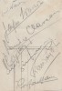 Carte de Johny Hess signée au verso par André Claveau, Alec Siniavine et 5 artistes non identifiés.. ( Musique - Jazz ) - Johny Hess -  André Claveau ...