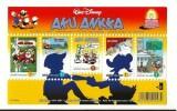 Walt Disney : Planche illustrée avec 5 timbres non oblitéré, édité par la Poste Finlandaise en 2001 intulée Aku Ankka ( Donald Duck ).. ( Bandes ...