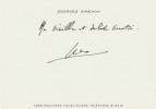 Maigret et le Marchand de Vin. ( Avec carte, dédicacée par Georges Simenon, sous enveloppe, provenant de la bibliothèque de Auguste le Breton ).. ...