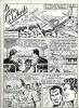 Superbe ensemble Tim L'audace numéro 13 - Le Film de la vérité : 20 planches originales en noir et blanc + couverture originale à la gouache + ...