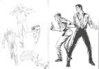 Bob Morane, Carnet de croquis.. ( Bob Morane - Bande dessinée ) - Henri Vernes -  Gérald Forton.