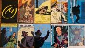 Superbe lot de 26 cartes postales illustrées par Edgar Pierre Jacobs, reprenant les couvertures des 10 premiers albums + le Rayon U + de nombreuses ...