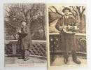 2 cartes postales, verso avec musique imprimée (13,7 x 9 and 14 x 9 cm).. LAVAULT (Paul) - CARTE POSTALE - POSTCARD - POSTKARTE.