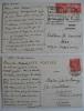 Deux cartes postales écrites à Madame Gilm de Rosenegg, datées du 16 avril et du 13 septembre 1933. Remerciements pour des renseignements précieux ...