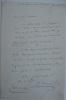 """Billet  manuscrit (18,5 x 12,5 cm) de 13 lignes. Fait une demande à son ami """"Nestor"""" (i.e. Nestor Roqueplan, 1805 - 1870, directeur d'opéra de Paris) ..."""