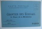 Carte de commande, imprimée sur carton bleu avec adresse et prix. Environ 1900.. EPHEMERA - MARCHAND DE CHARBON : CHANTIER DES ECOSSAIS, 9, PLACE DE ...