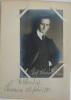 Postkarte (13,5 x 8,5 cm). Originalphotographie mit Signatur. Edition Foetisch Frères, Lausanne. Blatt aus einem Stammbuch mit handschriftlichen ...