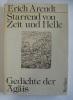 Starrend von Zeit und Helle. Gedichte der Ägäis. Mit Reproduktionen nach Radierungen von Paul Eliasberg.. ARENDT (Erich).