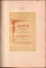 MANON. Opéra-comique en cinq actes et six tableaux de MM. Henri Meilhac et Philippe Gille présenté pour la première fois le 19 janvier 1884. MASSENET ...