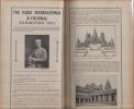 PARIS and its monuments, promenades in the neighbourhood, the colonial exhibition.. Guides Thiolier