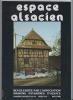 ESPACE ALSACIEN N° double 23-24, mai 1983. Association Maisons Paysannes d'Alsace