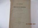 Etude historique sur les droits de bail seigneurial et de rachat en Bretagne de DURTELLE  de SAINT-SAUVEUR . DURTELLE  de SAINT-SAUVEUR  E., ...