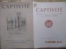 """Captivité - Scènes de la vie au camp, par Etienne MORIN - - Texte liminaire par Henri CURTIL.(Les planches ont pour titres respectifs : """"Le Camp sous ..."""