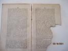 LA CHALOTAIS - Lettre d'un Gentil-Homme breton, à un noble espagnol, où l'on découvre les vrais auteurs des troubles qui affligent la Bretagne ...