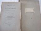 CARTULAIRE DE L'ABBAYE DE LANDEVENEC, avec notes et variantes - Joint CARTULAIRE DE L'ABBAYE DE LANDEVENEC, Planches , de Arthur de LA BORDERIE . LA ...
