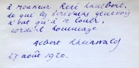 Le poème aux couleurs du Rhône. . Rheinwlad Albert: