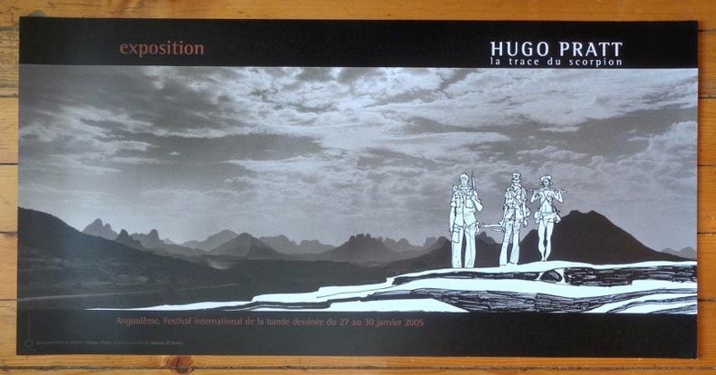 Rencontre d'un dessin d'Hugo Pratt et d'une photo de Marco d'Anna. 51 x 100. . Pratt Hugo, Marco d'Anna: