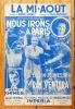 """La mi-août, créé dans le film """"Nous irons à Paris"""". [Ventura] André Hornez, Paul Misraki, Lucien Jeunesse, Doris Marnier, Camille Sauvage, Ray ..."""