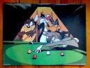 Taz ou le Diable de Tasmanie, Daffy Duck, Grosminet, Bugs Bunny - Le billard. . Warner Bros: