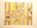 Arts ménagers, tirage  violet - Sérigraphie signée et numérotée. . Picasso Kiki: