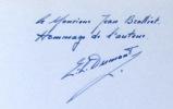 1926-1976. Carnet de bord de la Compagnie de 1602. . Dumont Eugène-Louis:
