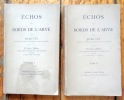 Echos des bords de l'Arve. Troisième édition considérablement augmentée et suivie de pièces mises en musique. Tomes I et II . Vuÿ Jules :
