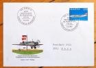 Cinquantenaire du trafic postal aérien. Genève-Zürich-Nürnberg. Enveloppe commémorative. . Aviation: