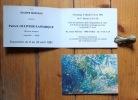 2 cartons d'invitation.. Ollivier-Lamarque Patrick: