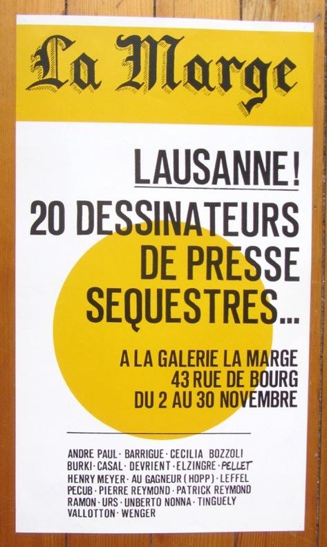 Lausanne: 20 dessinateurs de presse séquestrés à la galerie La Marge. .
