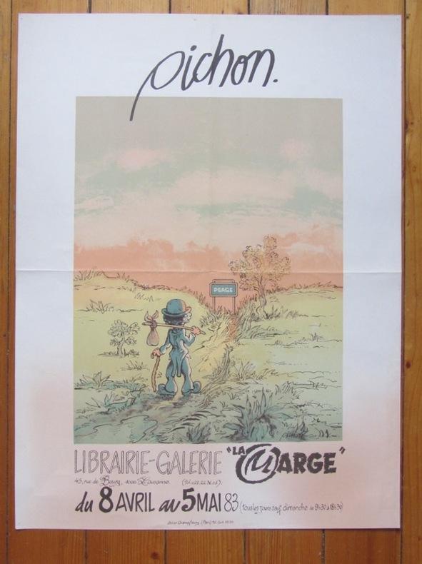 Affiche d'exposition - La Marge, Lausanne 1983. . Pichon Michel: