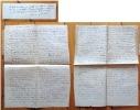 « Chrétien et païen », texte autographe (non signé) et billet autographe signé. . Jacob Max: