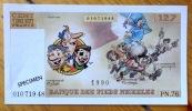 Banque des Pieds Nickelés - Billet de 127 francs.. Pellos René: