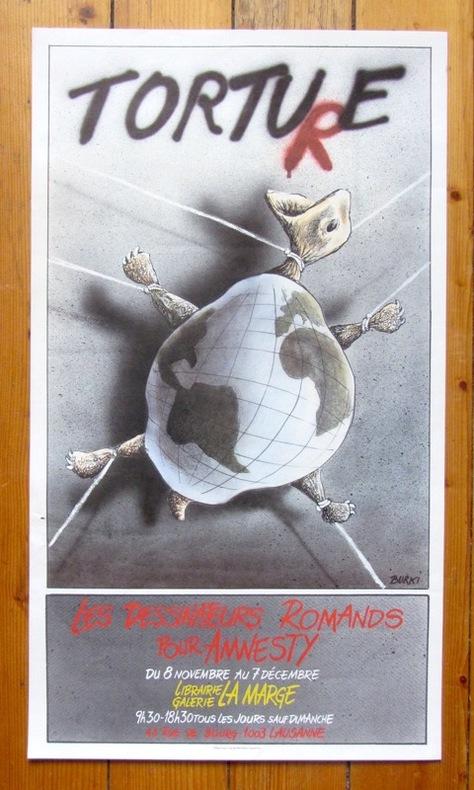 Torture - Les dessinateurs romands pour Amnesty. . Burki Raymond: