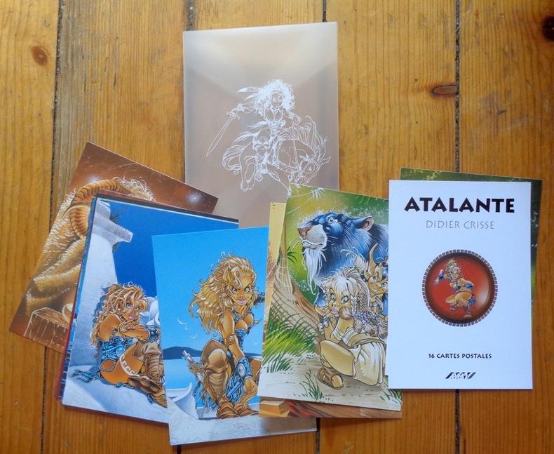Atalante. 16 cartes postales. . Crisse Didier: