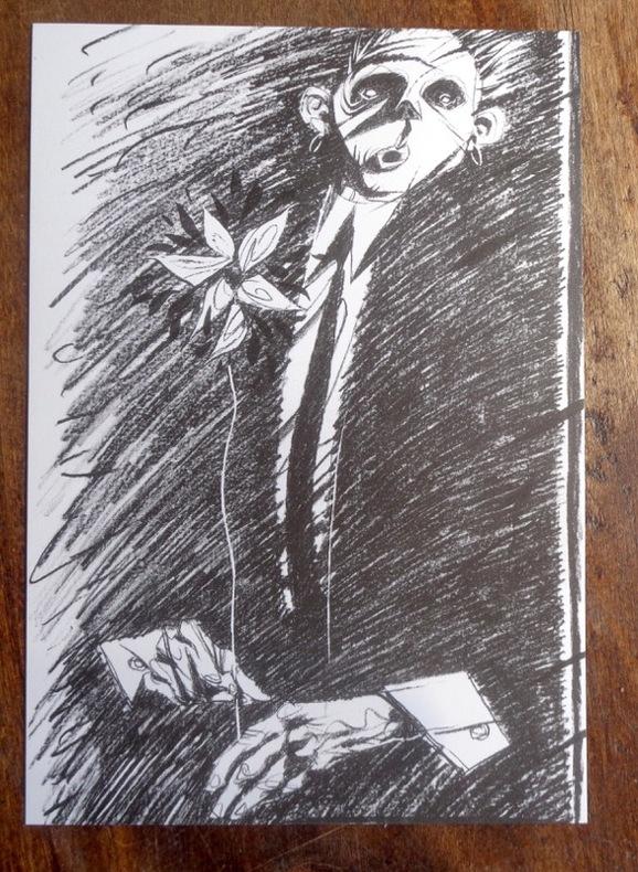 L'homme à la rose. . Bézian: