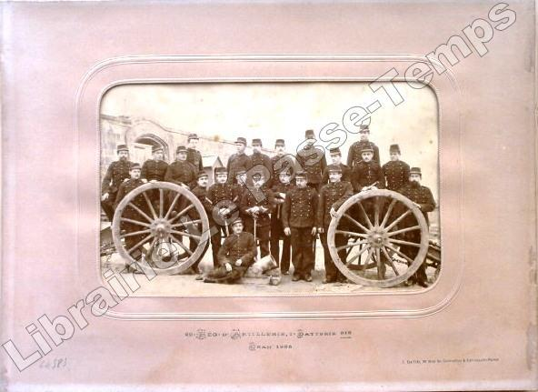 Photographie / 20e RÉGIMENT D'ARTILLERIE, 2e BATTERIE bis - Oran 1885.. Photographie / 20e Régiment d'Artillerie / DAVID (J.).