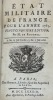 Etat militaire de France pour l'année 1783. Vingt cinquième édition.. ROUSSEL (De).